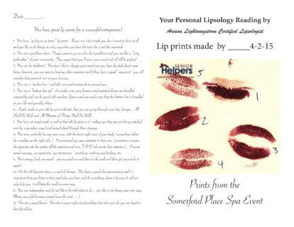 Sample Kissing Card